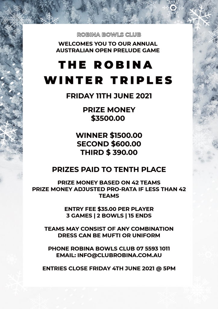 POSTER WINTER TRIPLES poster